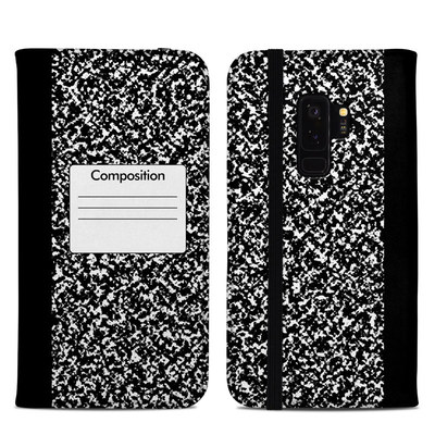 Samsung Galaxy S9 Plus Folio Case - Composition Notebook