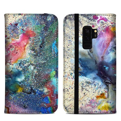 Samsung Galaxy S9 Plus Folio Case - Cosmic Flower