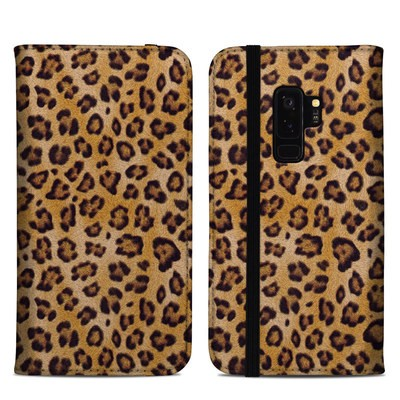 Samsung Galaxy S9 Plus Folio Case - Leopard Spots