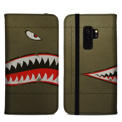 Samsung Galaxy S9 Plus Folio Case - USAF Shark