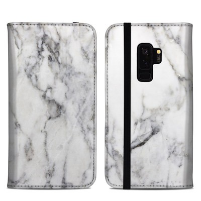 Samsung Galaxy S9 Plus Folio Case - White Marble