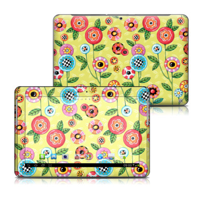 Samsung Galaxy Tab 2 10-1 Skin - Button Flowers