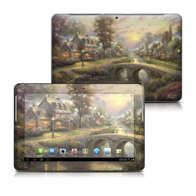 Samsung Galaxy Tab 2 10-1 Skin - Sunset On Lamplight Lane