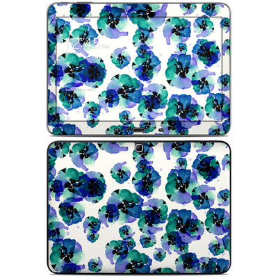 Samsung Galaxy Tab 4 10.1in Skin - Blue Eye Flowers
