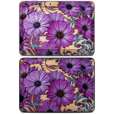 Samsung Galaxy Tab 4 10.1in Skin - Daisy Damask