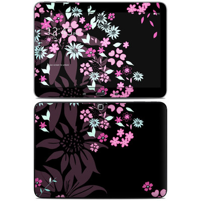 Samsung Galaxy Tab 4 10.1in Skin - Dark Flowers