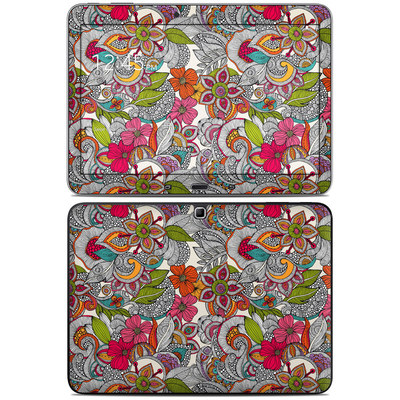 Samsung Galaxy Tab 4 10.1in Skin - Doodles Color