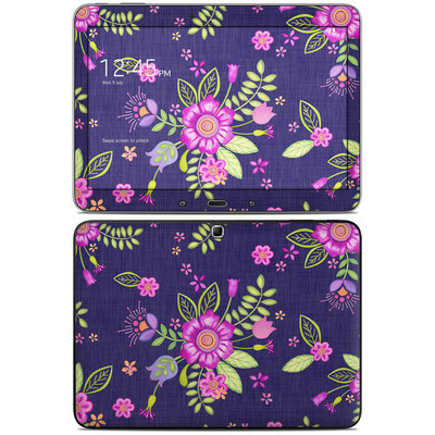 Samsung Galaxy Tab 4 10.1in Skin - Folk Floral