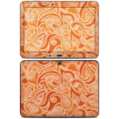 Samsung Galaxy Tab 4 10.1in Skin - Paisley In Orange