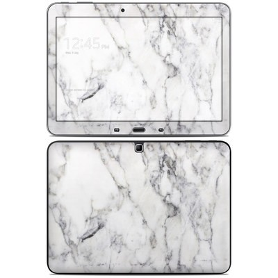 Samsung Galaxy Tab 4 10.1in Skin - White Marble