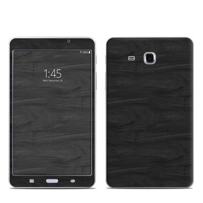 Samsung Galaxy Tab A 7in Skin - Black Woodgrain