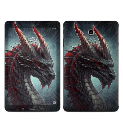 Samsung Galaxy Tab E Skin - Black Dragon
