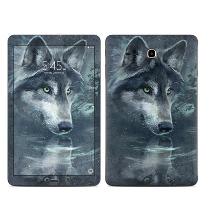 Samsung Galaxy Tab E Skin - Wolf Reflection