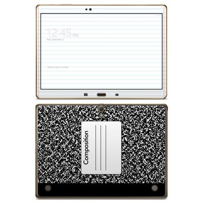 Samsung Galaxy Tab S 10.5in Skin - Composition Notebook
