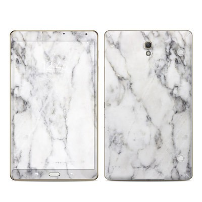 Samsung Galaxy Tab S 8.4in Skin - White Marble