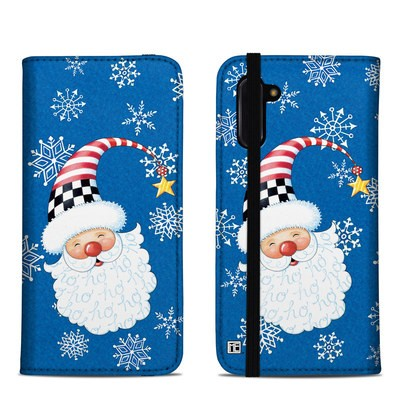 Samsung Galaxy Note 10 Folio Case - Santa Snowflake