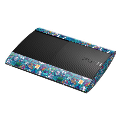 Sony Playstation 3 Super Slim Skin - Cosmic Ray