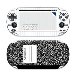 Sony PS Vita Skin - Composition Notebook