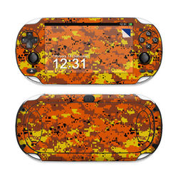 Sony PS Vita Skin - Digital Orange Camo