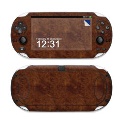Sony PS Vita Skin - Dark Burlwood