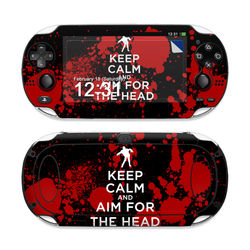Sony PS Vita Skin - Keep Calm - Zombie