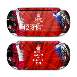 Sony PS Vita Skin - Keep Calm - Burst
