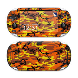Sony PS Vita Skin - Orange Camo