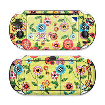 Sony PS Vita Skin - Button Flowers