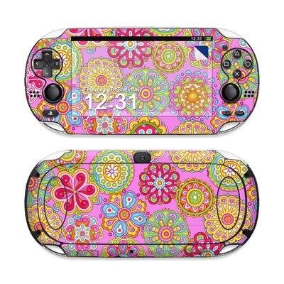 Sony PS Vita Skin - Bright Flowers