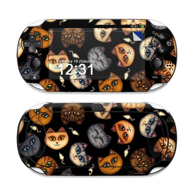 Sony PS Vita Skin - Cat Faces