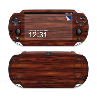 Sony PS Vita Skin - Dark Rosewood