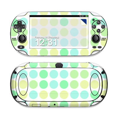Sony PS Vita Skin - Big Dots Mint