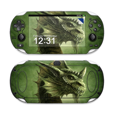Sony PS Vita Skin - Green Dragon