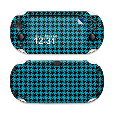 Sony PS Vita Skin - Teal Houndstooth