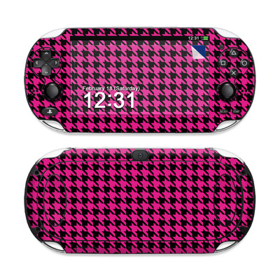 Sony PS Vita Skin - Pink Houndstooth