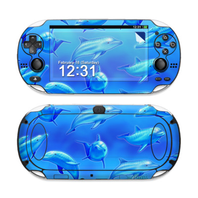 Sony PS Vita Skin - Swimming Dolphins