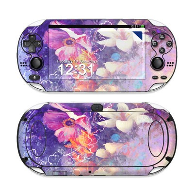 Sony PS Vita Skin - Sketch Flowers Lily