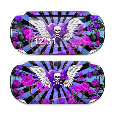 Sony PS Vita Skin - Skull & Roses Purple