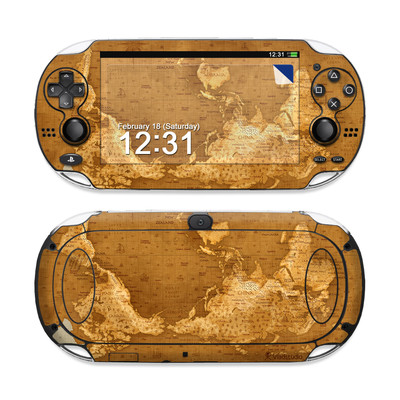 Sony PS Vita Skin - Upside Down Map