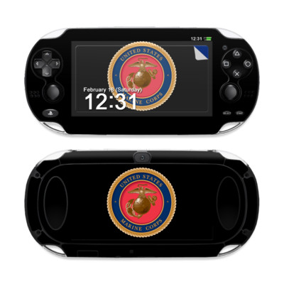 Sony PS Vita Skin - USMC Black