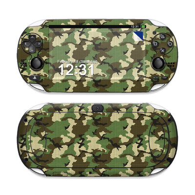 Sony PS Vita Skin - Woodland Camo