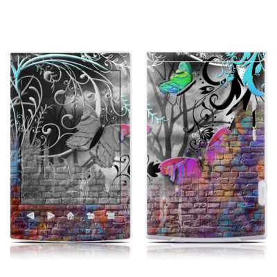 Sony Reader PRS-T2 Skin - Butterfly Wall
