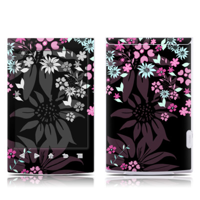 Sony Reader PRS-T2 Skin - Dark Flowers