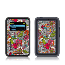 SanDisk Sansa Clip Plus Skin - Doodles Color