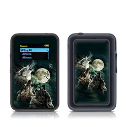 SanDisk Sansa Clip Plus Skin - Three Wolf Moon