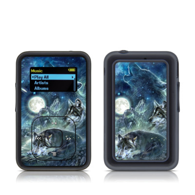 SanDisk Sansa Clip Plus Skin - Bark At The Moon