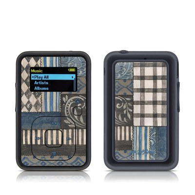 SanDisk Sansa Clip Plus Skin - Country Chic Blue