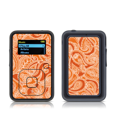 SanDisk Sansa Clip Plus Skin - Paisley In Orange