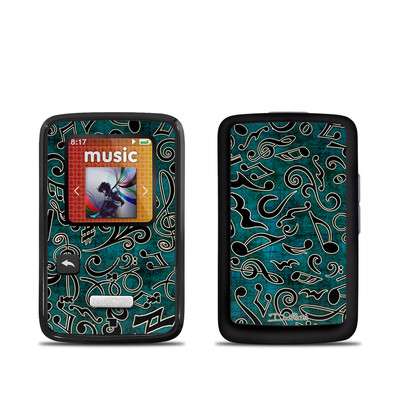 SanDisk Sansa Clip Zip Skin - Music Notes