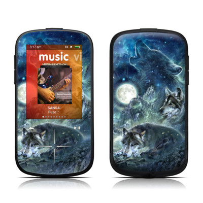 SanDisk Sansa Fuze Plus Skin - Bark At The Moon